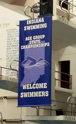 Indiana Swimming Banner