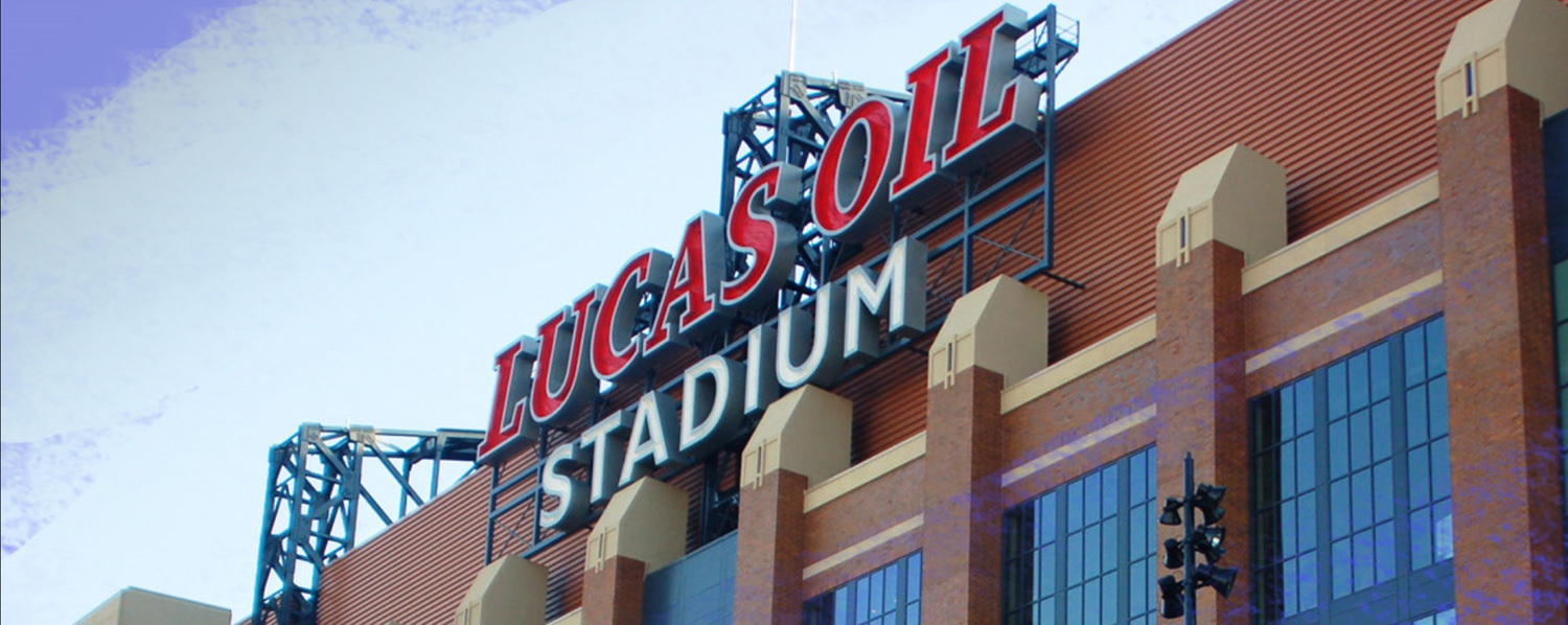 Lucas Oil Stadium Sign