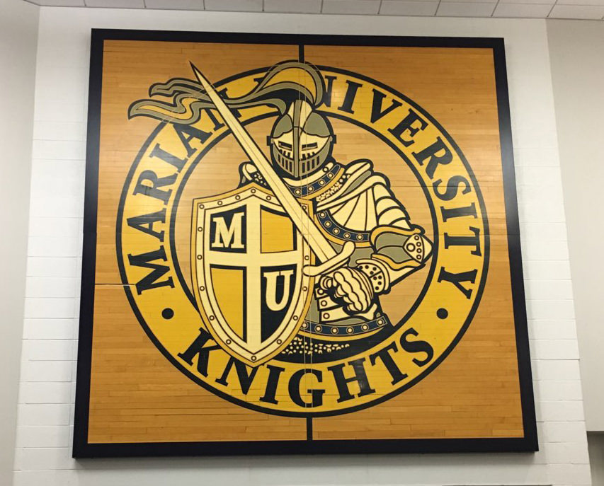 Marian Knights Custom Sign