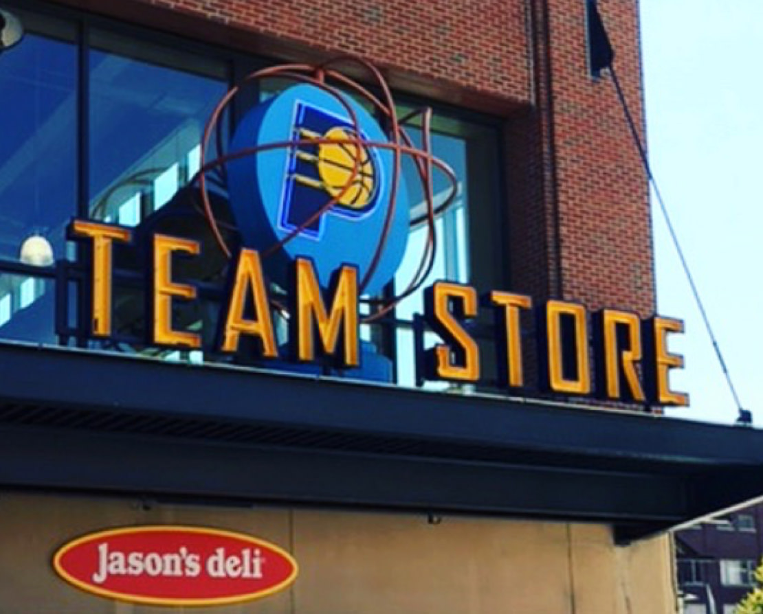 Indiana Pacers Team Store Sign