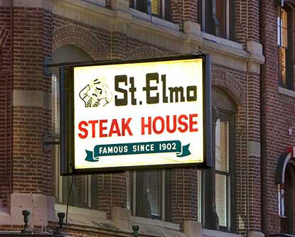 St Elmo Steak House Sign