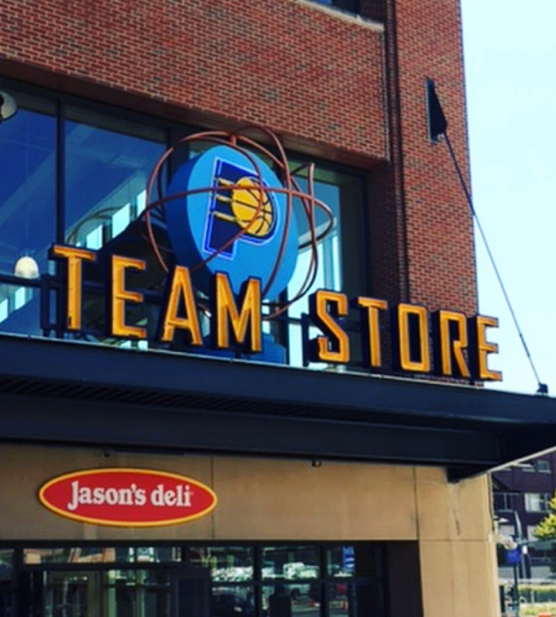 Pacers Team Store Sign