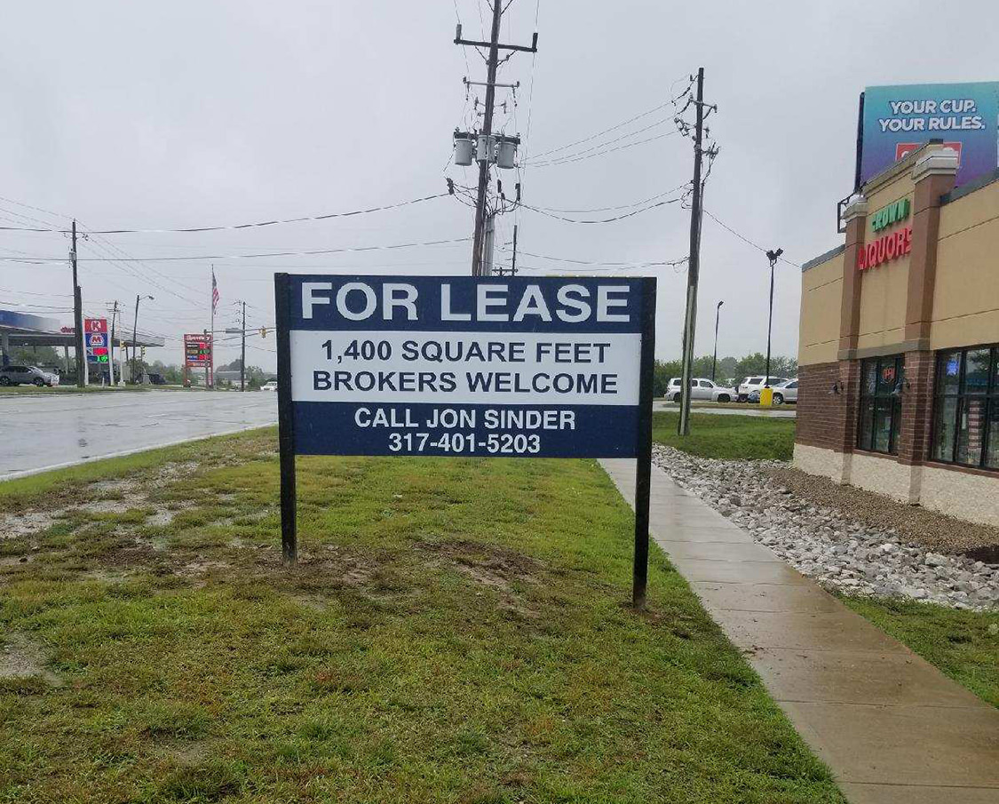 For Lease Site Sign